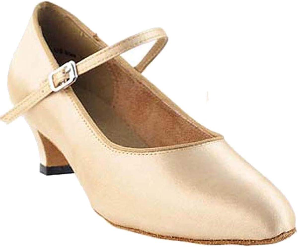 Women's Ballroom Dance Shoes Salsa Latin Practice Shoes 3008EB Comfortable-Very Fine 1.3