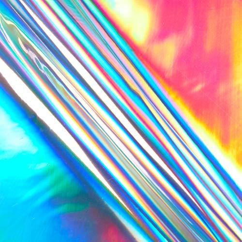 TPU-Hologramm-Vinyl-Stoff, silberfarben, Meterware