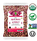 Dualspices Organic Rose Buds & Petals Tea 4 Oz - Food grade edible Fragrant Natural Healthy Best for Tea, Baking, Making Rose Water, Crafting Freshest Directly from BULGARIA
