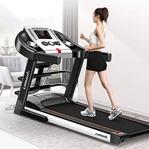 XIEZI - Esterilla plegable fácil de mover y almacenar máquina de fitness, velocidad ajustable, fitness, trreadmill, silenciosa y cómoda, multifunción, fitness, equipo