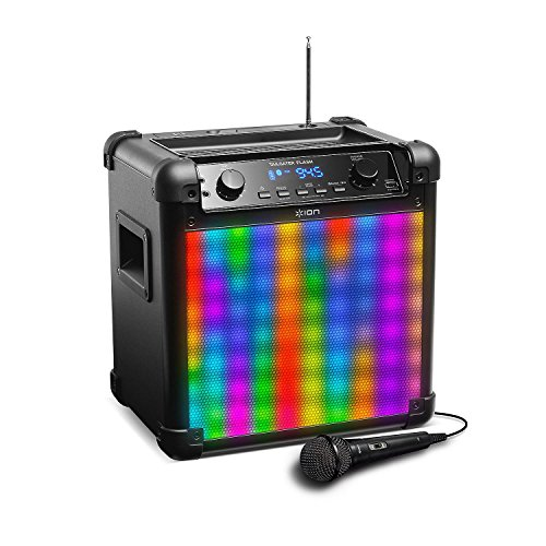 ION Audio Tailgater Flash | Wireless Rechargeable Speaker System with Sound-Reactive Lights