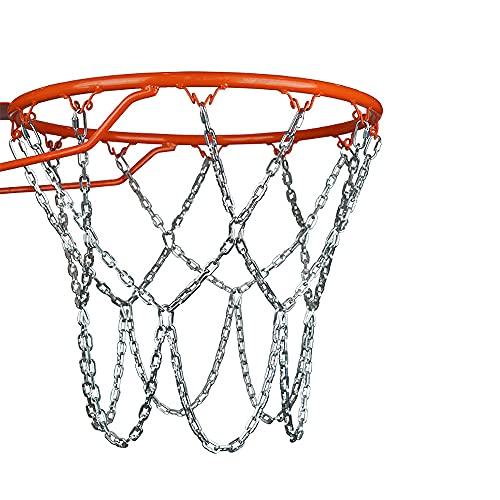 YeenGreen Retina da Basket, Rete da Pallacanestro di Ricambio, Catena di Pallacanestro in Acciaio Zincato, Rete da Pallacanestro in Metallo, Articoli Sportivi per Esterni o Interni
