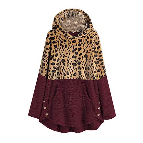 Fairy Costume Damen Frauen Teenager Mädchen Winter Wärme Softshell Pullover Leopard Kapuzenpullover Mantel Fleece Fell Hoodie Sweatshirt Mantel Parka
