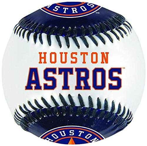 Franklin Sports MLB Houston Astros Team Baseball - MLB Team Logo Soft Baseballs - Toy Baseball for Kids - Great Decoration for Desks and Office