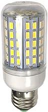LEDMOMO Corn Bulb 2pcs 220V 96 LEDs E27 15W Corn Lamp Corn Lights with Lampshade (Warm White)