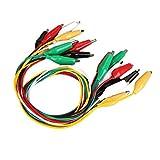 Hanbaili 10pcs cables de cables de prueba de doble punta Pinza para pinzas de cocodrilo Pinza para puente