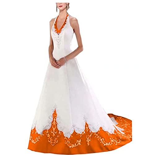 Orange Lace Bridal Dresses: Amazon.com
