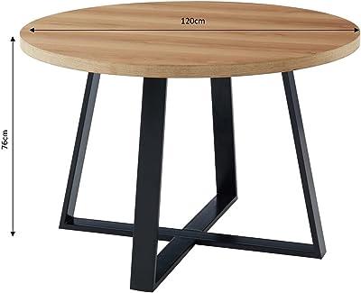 BAÏTA Table à Manger, Bois, L120cm