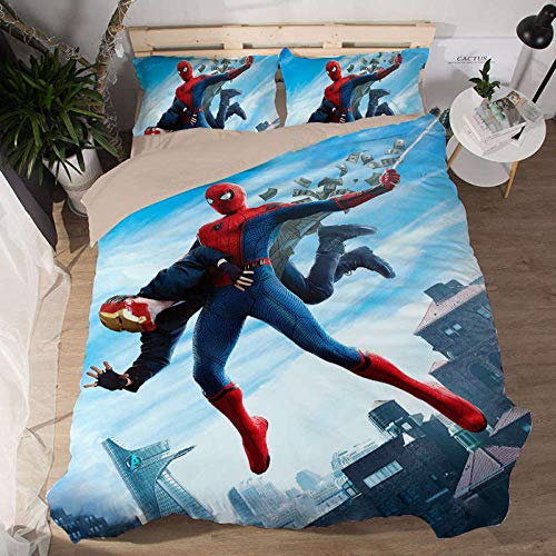 Wzhfsq Fxirza Duvet Cover Movie Characters 135 * 200Cm 3D Three-Piece Bedding Set,Adult Children Household Quilt Cover, Polyester Fiber,Duvet Cover+Pillowcase
