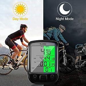 Cuentakilómetros para Bicicleta, otumixx Impermeable Velocímetro Inalámbrico de Bicicleta 29 Funciones Ordenador de Bicicleta con Pantalla LCD Computadora de Bicicleta para Ciclismo Speed Track