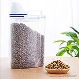 MMBOX Contenedores de alimentos para mascotas para perros, contenedores de cereales transparentes con taza medidora