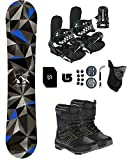 Symbolic Arctic Kids Snowboard & Bindings & Boots +Leash+Stomp+Mask+Burton Decal Package (BLK Bindings+Grom Boot Black-Lime 1, 100cm Arctic Rocker)