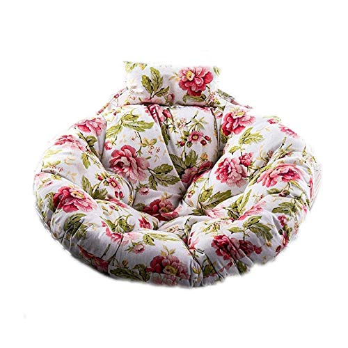 Zhenwo Hanging Basket Swing Chair Cushions, Pads Hanging Chair Rattan Patio Garden Seat Cushion for Bedrooms, Terrace, Garden,2
