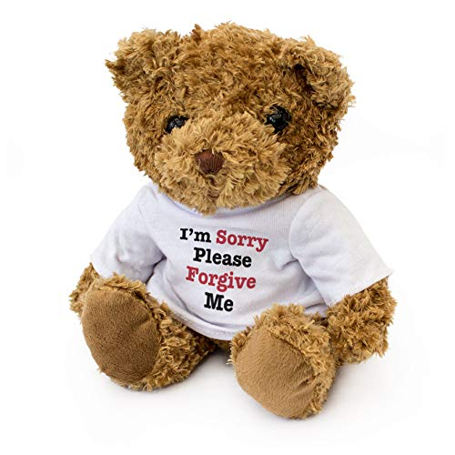 I'm Sorry Please Forgive ME - Adorable Lovely Soft Brown Teddy Bear - Gift Present Apology