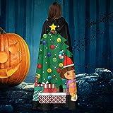 NULLYTG Disfraz de Dora The Explorer Around The Christmas Tree Unisex para Halloween, Bruja Caballo con capucha para vampiros