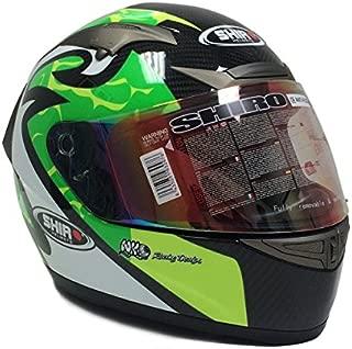 PREMIUM SHIRO CARBON FIBER Adult Full Face Helmet MotoGP Replica DOT/ECE X-LARGE