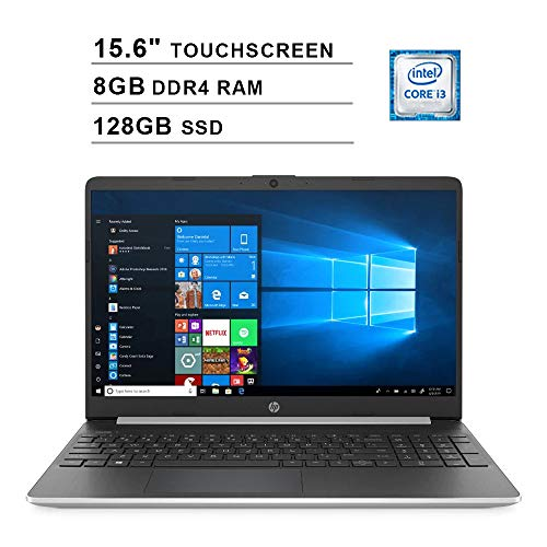 2020 HP Pavilion 15.6 Inch Touchscreen Laptop (Intel 2-Core i3-1005G1 up to 3.4GHz, 8GB DDR4 RAM, 128GB SSD, Intel UHD Graphics, HDMI, WiFi, Bluetooth, Webcam, Windows 10 Home)