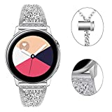 Pour Bracelet Samsung Galaxy Watch 42mm Diamant, Myada 20mm Bracelet Samsung Gear Sport Acier Inoxydable Bracelet Samsung Galaxy Watch Active 40mm Bracelet Garmin Vivoactive 3 Sport Bracelet Gear S2