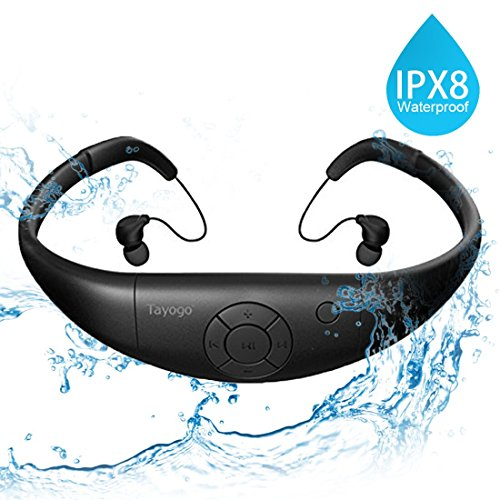 Tayogo Waterproof mp3 Player swimming, waterproof 8GB for Swimming...