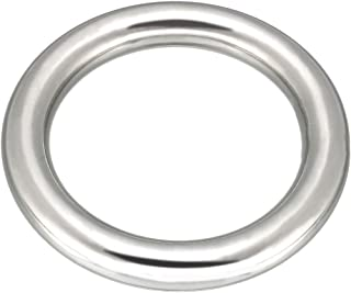 uxcell Multi-Purpose Metal O Ring Buckle Welded 70mm x 50mm x 10mm for Hardware Bag Ring Hand DIY Accessory