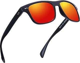 Polarized Sunglasses for Men and Women Uv Protection, Mens Womens Mirrored Sunglasses for Wayfarer Driving.