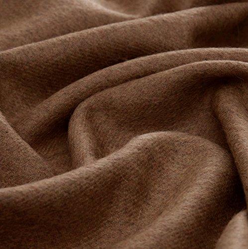 Lorenzo Cana High End Alpakadecke aus 100prozent Alpaka - Wolle vom Baby - Alpaka flauschig weich Decke Wohndecke Sofadecke Tagesdecke Kuscheldecke