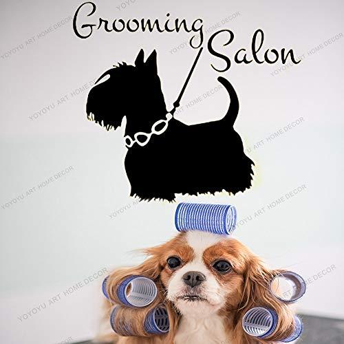 Pet Grooming Salon Muursticker Pets Shop Interieur Vinyl Raamstickers Huisdieren Hondenverzorging Shop Art Fotobehang Poster