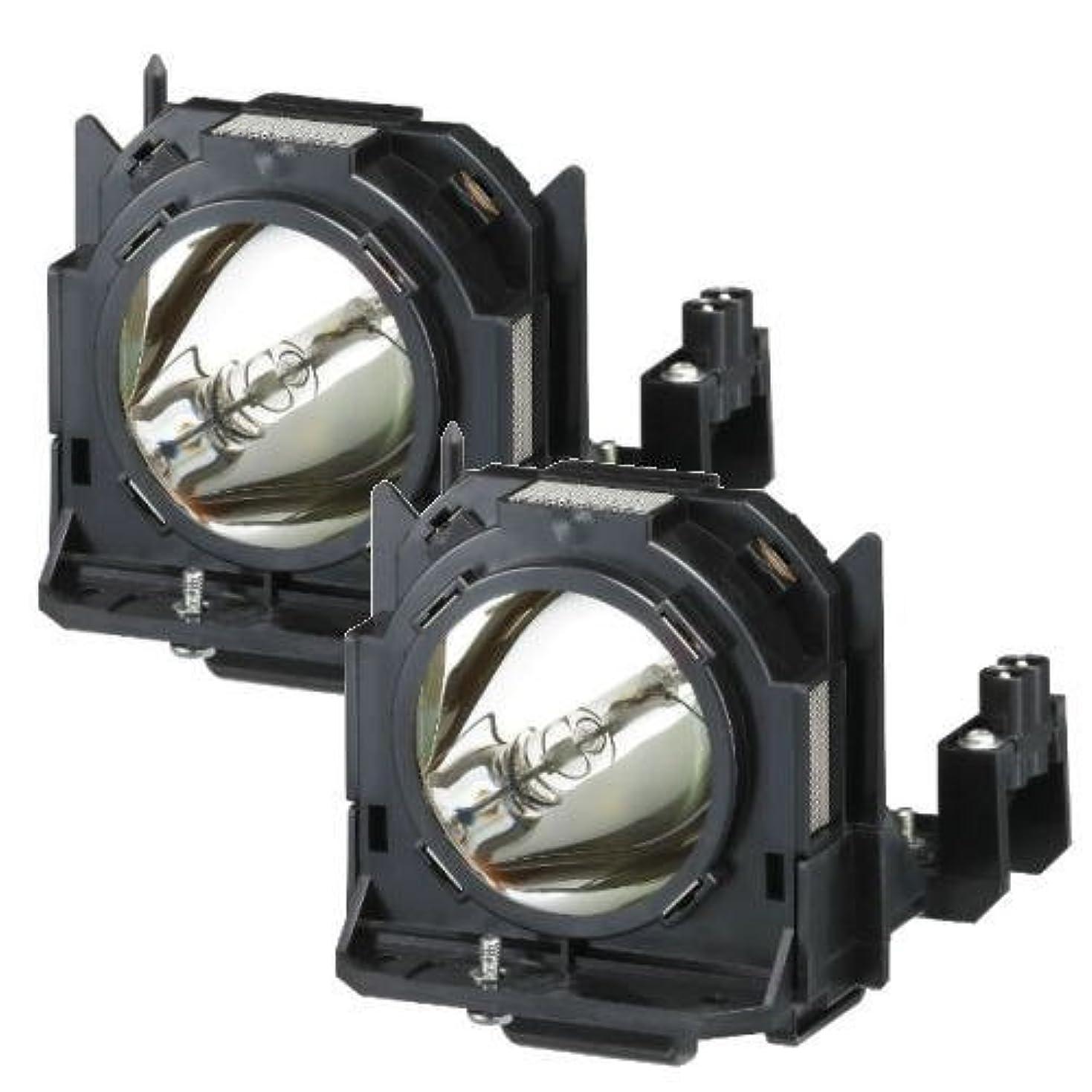 ダイヤルブルーム失ET-LAD60W 交換ランプ Panasonic パナソニック プロジェクター用 Phoenix オリジナルバナー搭載 汎用交換ランプ 純正互換品 2灯セット CBH ET-LAD60W-CBH