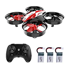 21 Minutes Flight Time: Come with 3 drone batteries in the package, your flight time is prolonged up to 21 Minutes. Easy to Play: The Auto-hovering function enables the drone to hover at current height. You can release the throttle stick and control ...