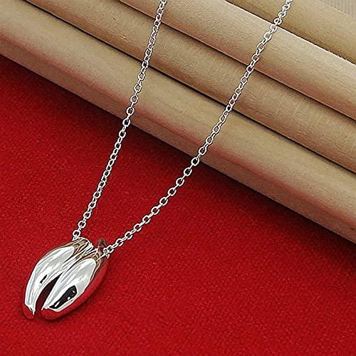 N\C Collares para Mujer -Números Romanos De Plata De Ley 925 Elegante Simplicidad Collar con Colgante De Círculo Redondo Cadena De Serpiente De 18 Pulgadas para Mujer Accesorios De Joyería De Boda