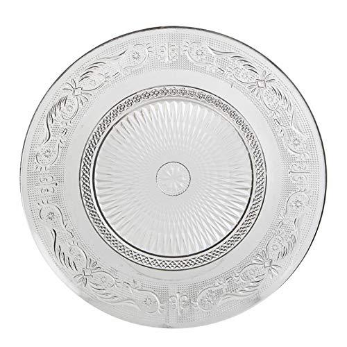 L'Héritier Du Temps Assiette Plate à Dessert Plat de Présentation Vaisselle en Verre Transparent Ø23cm
