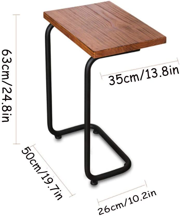 Table d'appoint de canapé C Table Maison Table de Cahier Simple pour Petite Table en Bois Massif de Petit Espace, 26 Pouces, Couleur Bois, Maison/Bureau Oldcolor