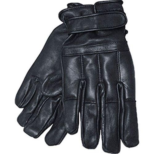 Commando Industries Handschuhe Swat Defender II aus Leder mit Quarzsand Knöchelschutz Fingerschutz Securityhandschuhe Schwarz Größe S-XXL (XL)