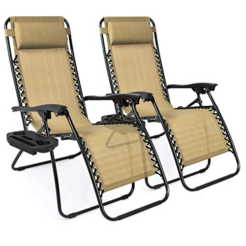 Zero Gravity Lounge Chair Recliners (Set of 2)