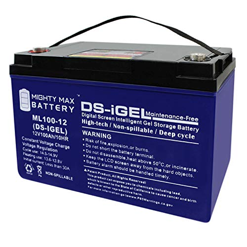 Mighty Max Battery 12V 100AH Gel Battery Replacement for RENOGY PV Solar Panels Brand Product