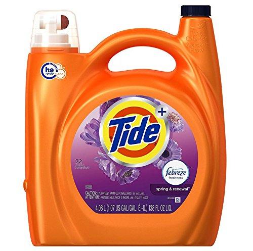 Tide Plus Febreze Spring & Renewal High Efficiency Liquid Laundry Detergent - 138 fl oz