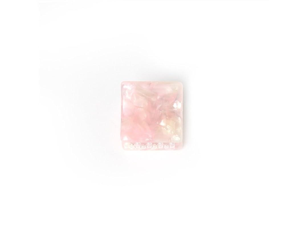 王族大学オーナメントOsize 美しいスタイル シンプルなフラワースクエアラウンド形の爪クリップミニジョークリップ(ピンクの広場)