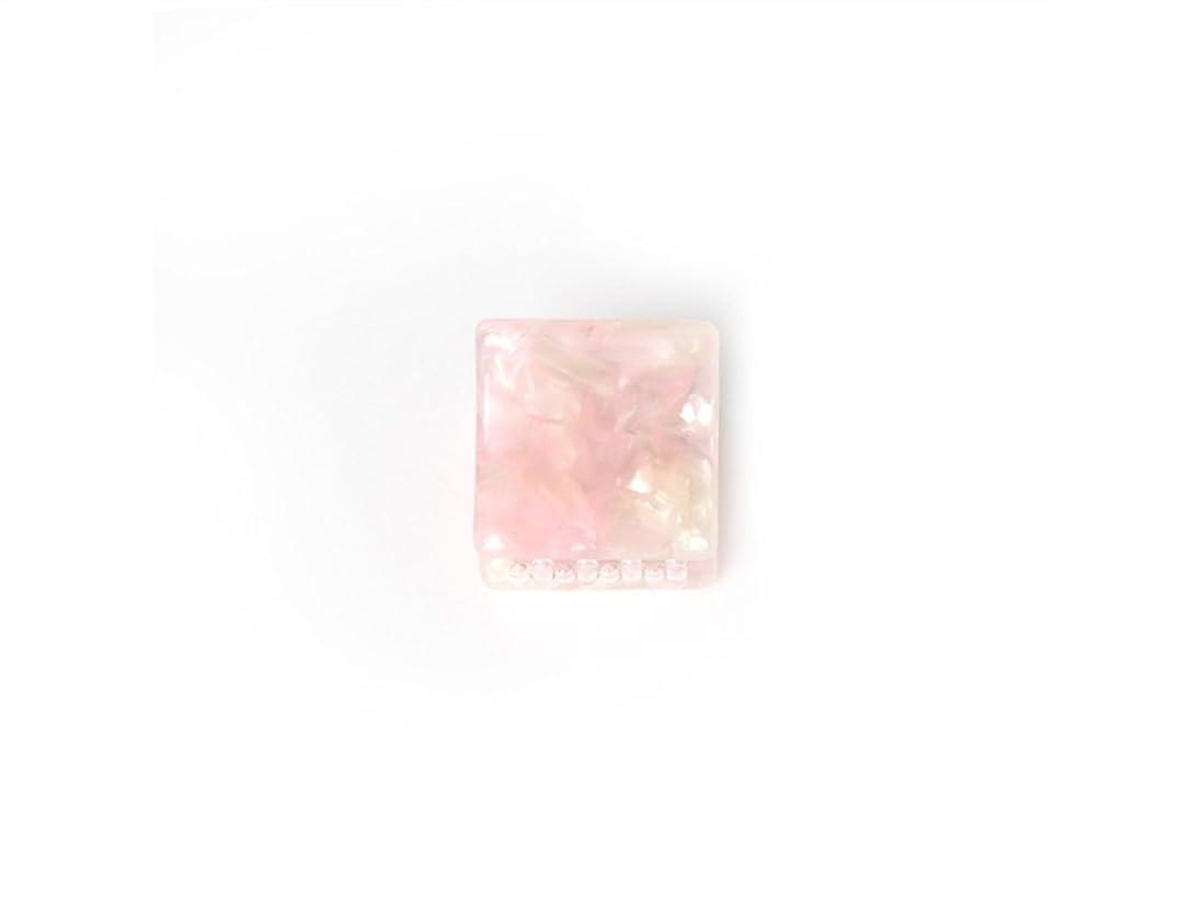 帰する静けさ定義Osize 美しいスタイル シンプルなフラワースクエアラウンド形の爪クリップミニジョークリップ(ピンクの広場)