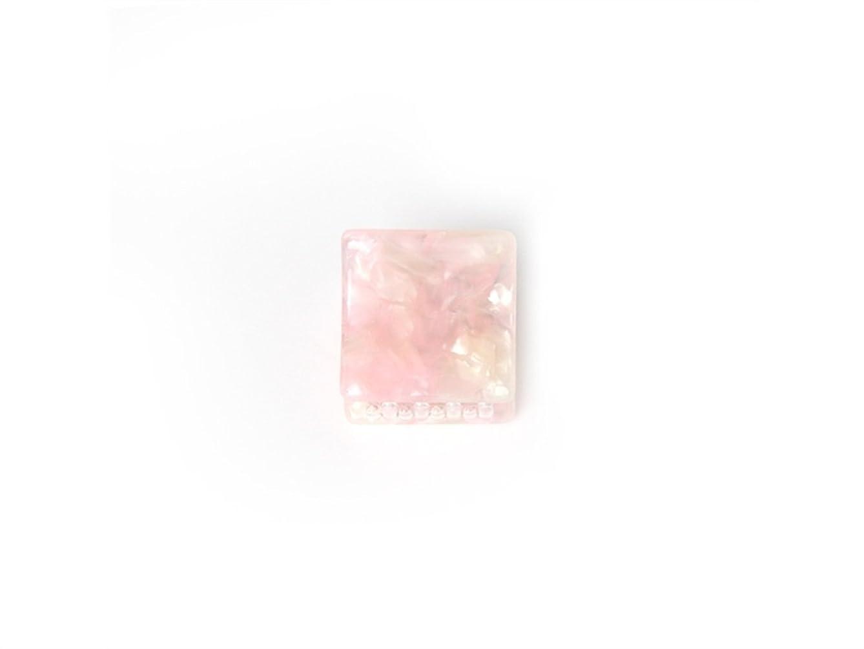 ハーフサラミ謝罪するOsize 美しいスタイル シンプルなフラワースクエアラウンド形の爪クリップミニジョークリップ(ピンクの広場)