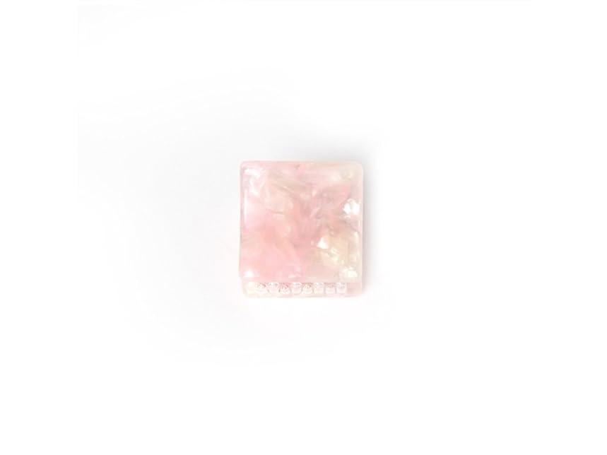 ジャーナリストしっかり成長するOsize 美しいスタイル シンプルなフラワースクエアラウンド形の爪クリップミニジョークリップ(ピンクの広場)