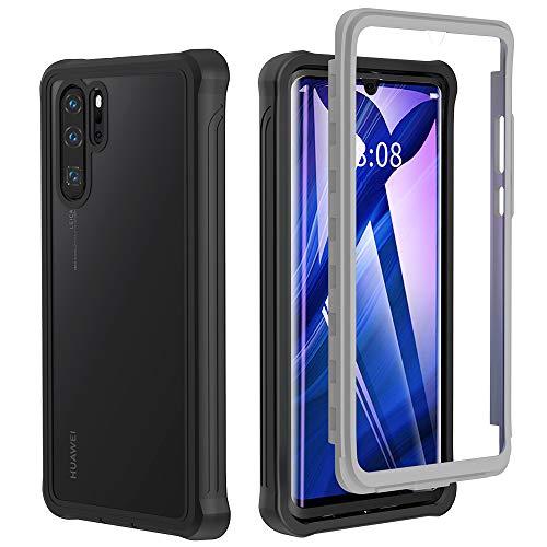 Huawei P30 Pro Hülle, Huawei P30 Pro New Edition Hülle, Transparent TPU Hülle 360 Grad R&umschutz mit Eingebautem Bildschirmschutz Schutzhülle Hülle Handyhülle HUAWEI P30 Pro/ P30 Pro New Edition