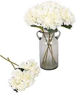 Kisflower 6Pcs Silk Hydrangea Artificial Flowers Realistic Hydrangea Flowers Bouquet for Wedding Party Office Home Decor£¨...
