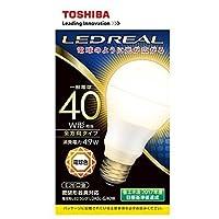 東芝 【ケース販売特価 10個セット】 LED電球 E-CORE[イー・コア] 一般電球形 全方向タイプ 40W形相当 電球色相当 全光束485lm E26口金 〔LEDREAL〕 密閉器具対応 LDA5L-G/40W_set