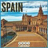 Spain 2021 calendar: 18 Months Wall Calendar 2021