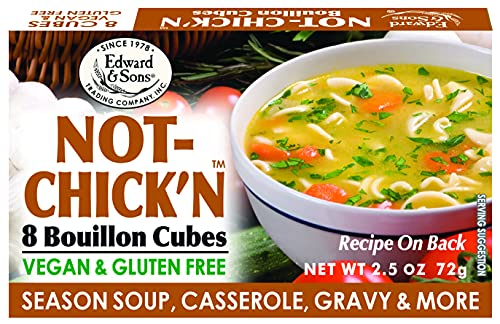 Edward & Sons Not Chick'n Bouillon Cubes, 2.5 Ounce Box (Pack of 12)