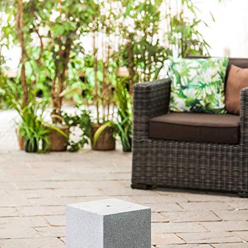 Heissner Gartenbrunnen-Sockel Cube, Granite Color, 31x31x31cm (016611-09)
