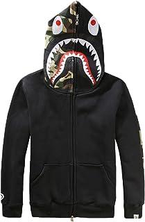 A Bathing Ape Black Hoodie Hat Winter Fall Spring Head Jacket Reflective Jumper