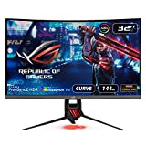 "Asus ROG Strix XG32VQR 31.5"" Curved Gaming Monitor 144Hz 1440P FreeSync 2 HDR Eye Care with DP HDMI,Black"