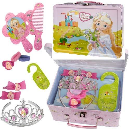 Sweet Princess Mädchen Accessoires Blechdose-Koffer für Prinzessinnen 10 tlg(11)
