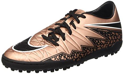 Nike Hypervenom Phelon Ii Turf Shoes [MTLC RED Bronze/Green Glow/Black] (9)